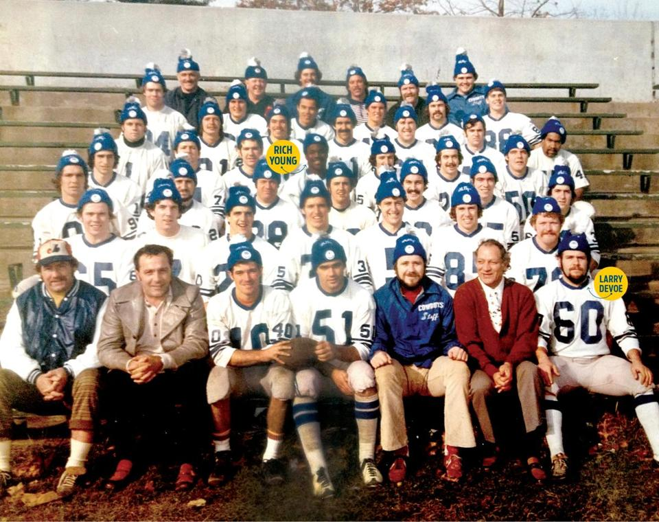 The first Billy's Cowboys squad in 1975 at Kelly Field in Hyde Park.